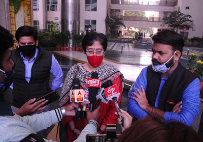 New Delhi: Advocate and activist Amit Sahni talks to the media outside the Supreme Court after a hearing on the plea seeking removal of protesters from the Shaheen Bagh area, in New Delhi on Feb 24, 2020. (Photo: IANS)